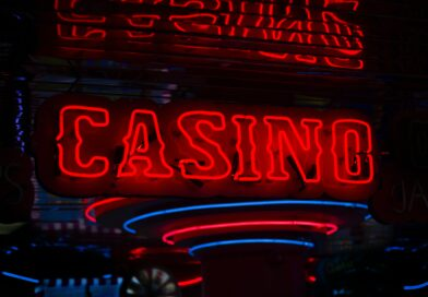 red Casino neon sign turned on photo